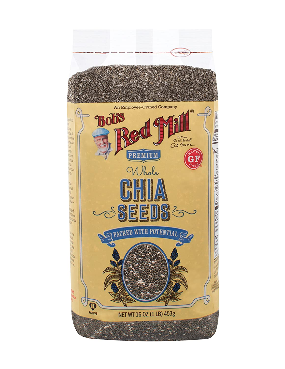 amazon com bob s red mill chia seeds 16 ounce pack of 4