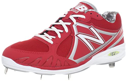 42a8a0c538964 new balance Men's MB3000 Cleated Baseball Shoe,Red/White,15 2E US ...