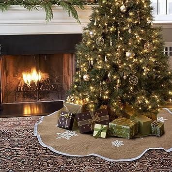 Amazon Aytai Christmas Tree Skirt 48 Inches Xmas Burlap Tree