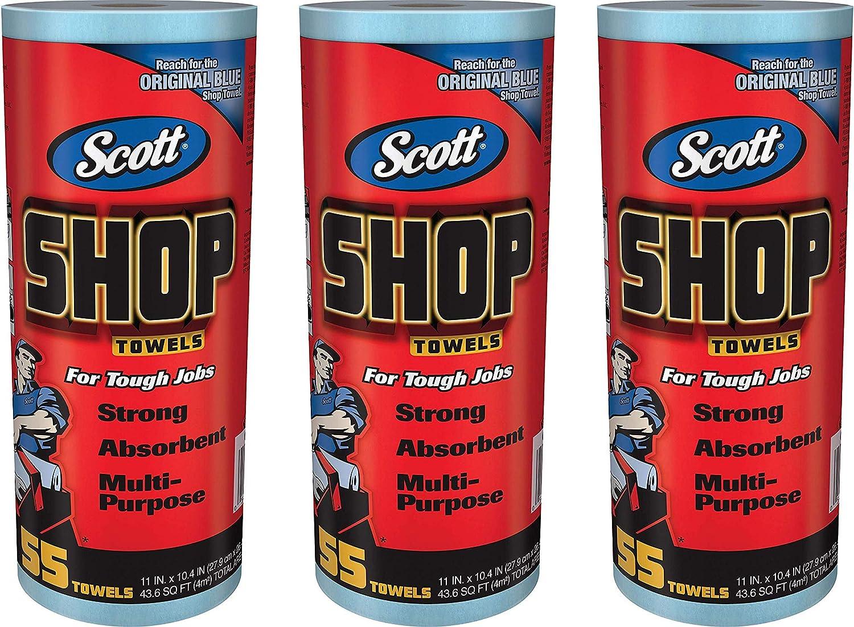 55 Towels Logistics Supply 75130KC Scott Shop Towels Blue 7//16 X 2 Pack