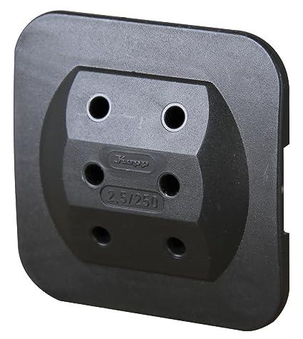Kopp 174905008 adaptador de enchufe eléctrico Tipo C (Europlug) Negro - Adaptador para enchufe