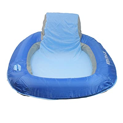"39"" Inflatable Sky Blue Floating Swimming Pool Chair: Toys & Games"