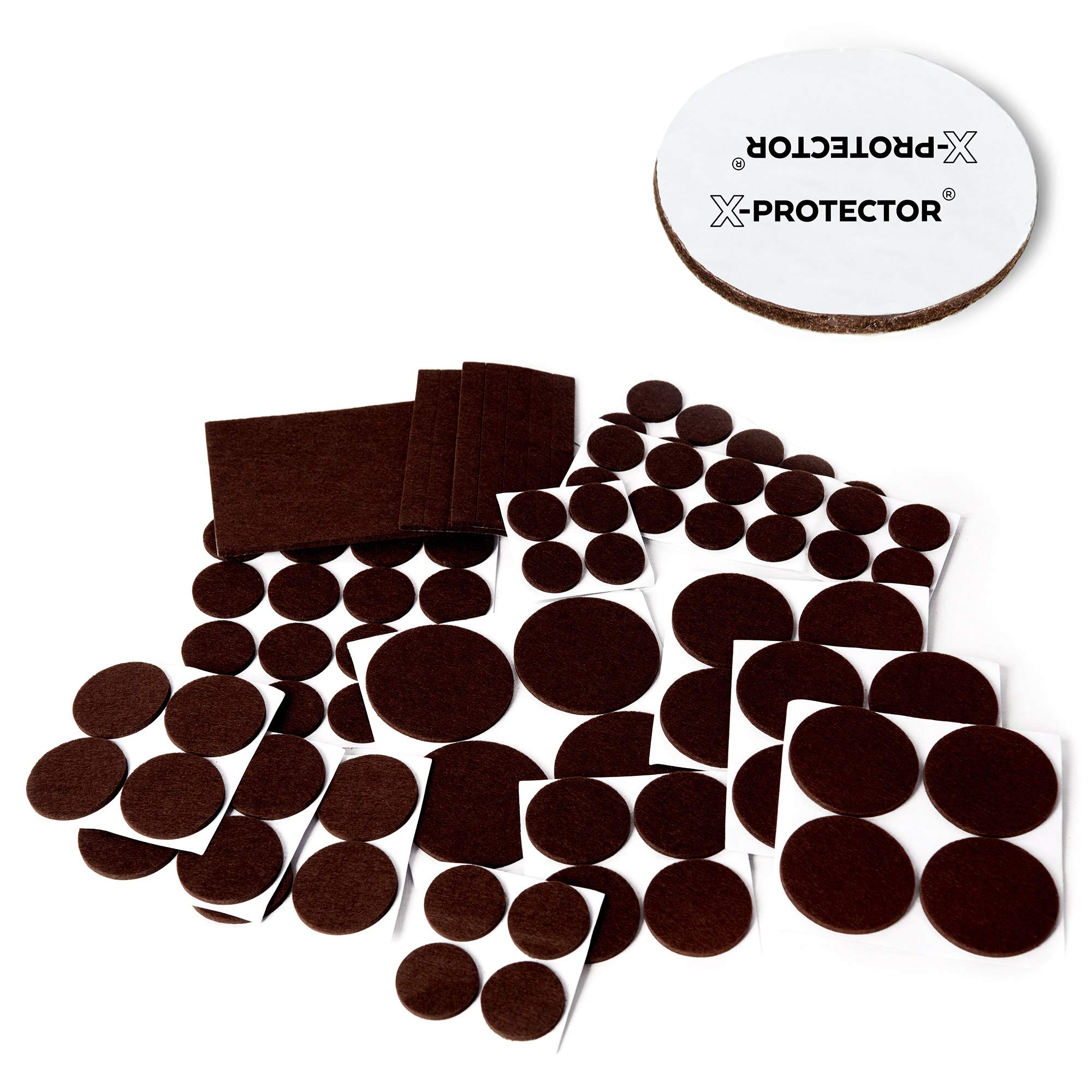 X-PROTECTOR Premium XXL SIZES Furniture Pads! BIG SIZES of Heavy Duty Felt Pads Furniture Feet – Your Best Wood Floor Protectors. Protect Your Hardwood & Laminate Flooring From Heavy Furniture!