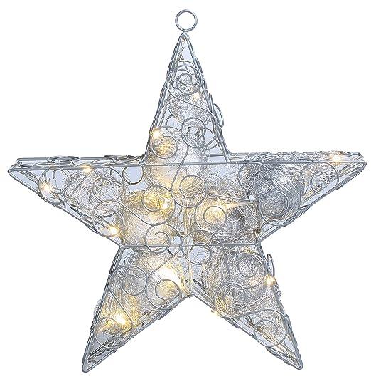 Stella Luminosa Di Natale.Stella Di Natale Luminosa Decorazione Di Natale Luminosa Amazon
