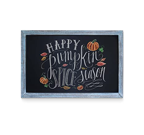 Amazon.com: Rustic Blue Magnetic Wall Chalkboard, Small Size 11\