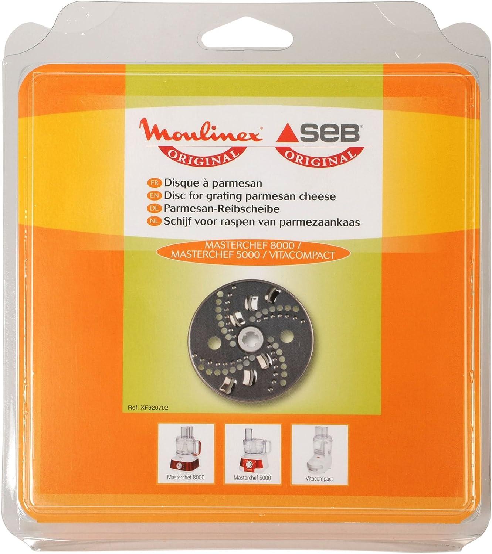 Moulinex XF920702 - Disco rallador para Masterchef 5000 y 8000 Vitacompact, gris: Amazon.es: Hogar