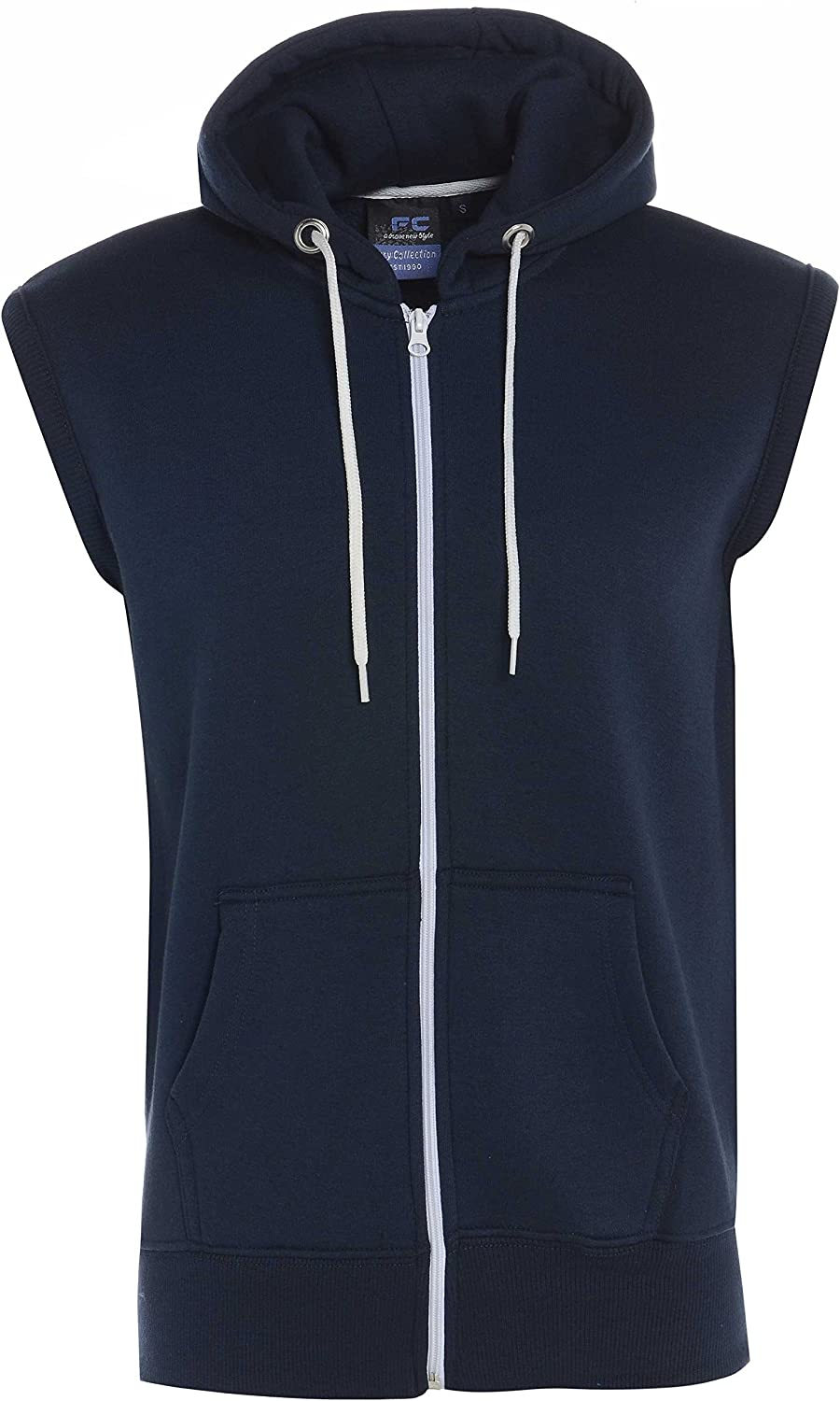 Fashion Oasis New Mens Hooded Plain Sleeveless Fleece TOP//Jacket//Gilet//Waistcoat//Bodywarmer S-XL