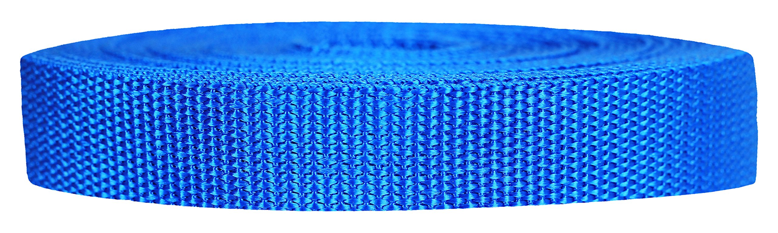Strapworks Heavyweight Polypropylene Webbing - Heavy Duty Poly Strapping for Outdoor DIY Gear Repair, 3/4 Inch x 25 Yards, Pacific Blue by Strapworks