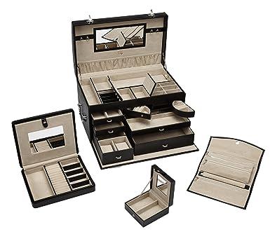 Amazoncom Seya Large Locking Leather Jewelry Box with Travel
