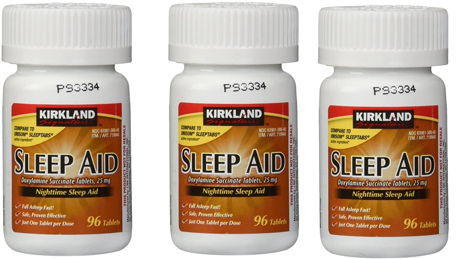 Amazon.com: Nighttime Aid 25mg, 3 Pack of 96 Tablets: Health & Personal Care
