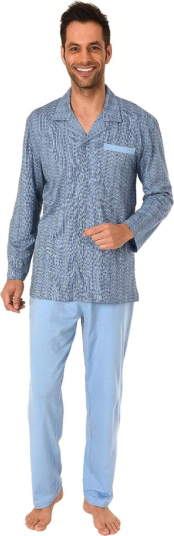 auch in /Übergr/össen bis Gr Eleganter Herren Pyjama Schlafanzug lang zum durchkn/öpfen 70