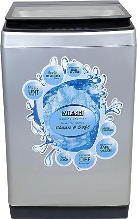 Mitashi 7.8 Kg Fully-automatic Top-loading Washing Machine (MiFAWM78v20, Grey)