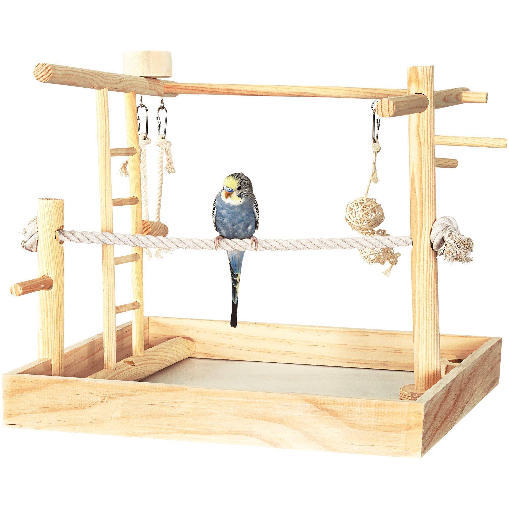 You & Me 3-in-1 Playground for Birds, 15'' L X 15'' W X 16'' H, 15 in by You&Me