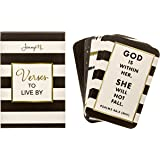 JennyM | Verses to Live By - 25 Faith Prayer Scripture Cards with Keepsake Box