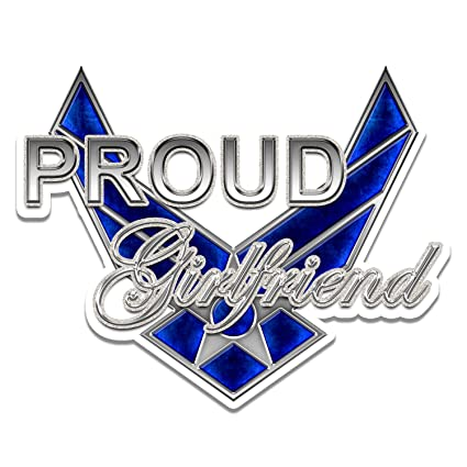 82b3cffc9db43 Proud Air Force Girlfriend Glitter Window Laptop Car Sticker 6