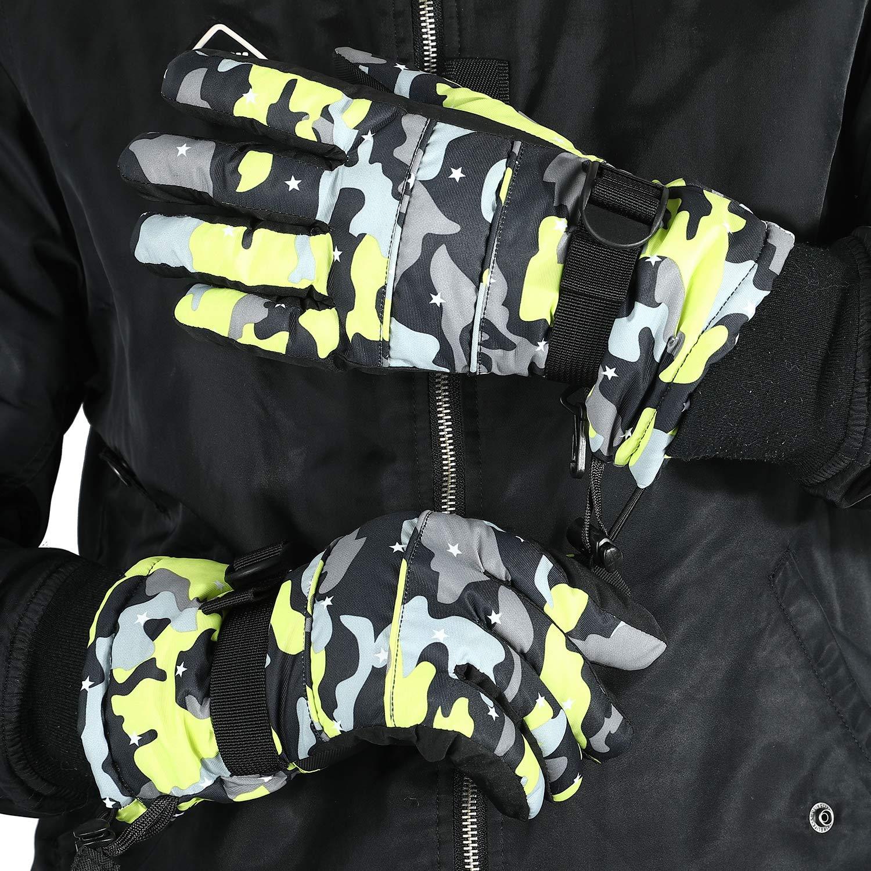 Escursionismo Campeggio e Altro Arrampicata SehrGo Guanti Sci Invernali Guanti Caldi Impermeabili Antivento Snowboard Guanti Sci Uomo Donna Bambini per Sci Ciclismo