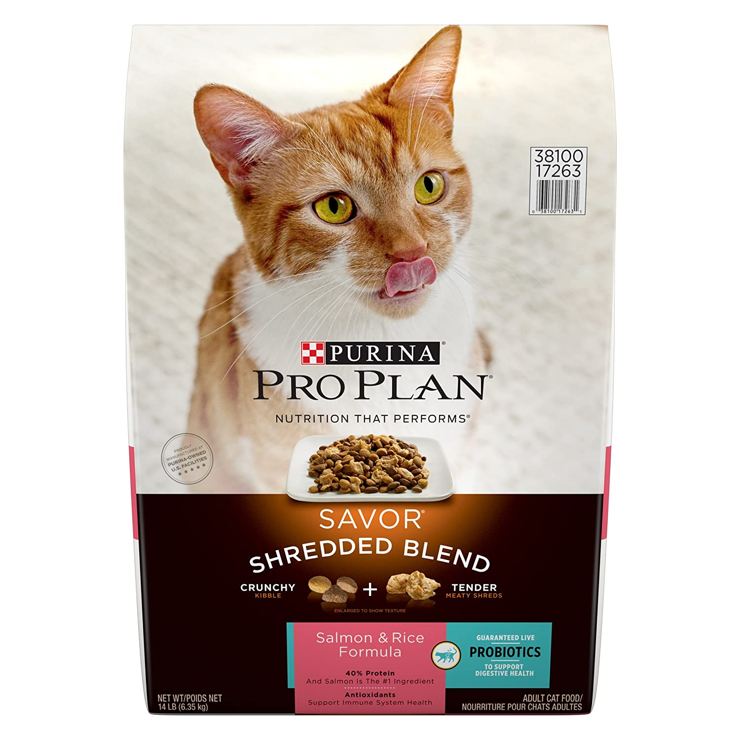 14 lb. Bag Purina Pro Plan SAVOR Adult Shredded Blend Salmon & Rice Formula Adult Dry Food (1) 14 lb. Bag