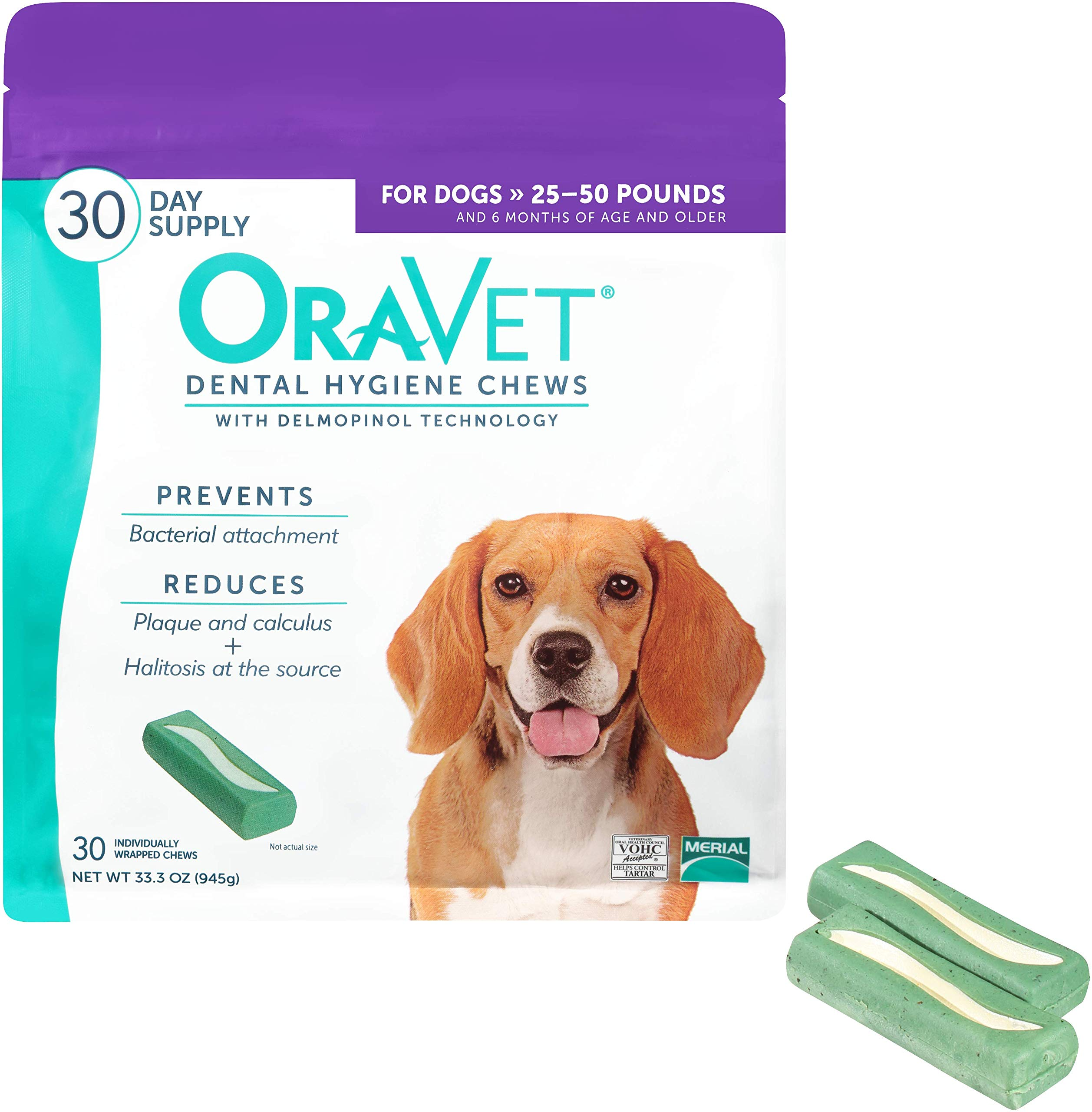 OraVet Dental Hygiene Chews for Medium Dogs, 30 Count by Oravet