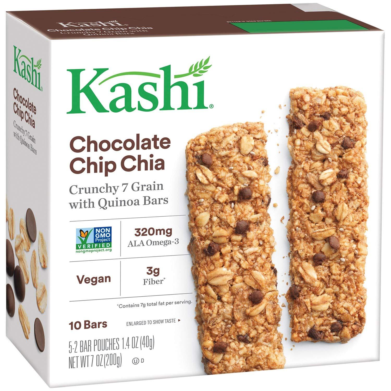 Kashi Crunchy Granola & Seed Bars, Chocolate Chip Chia, 7oz Box (Pack of 4)