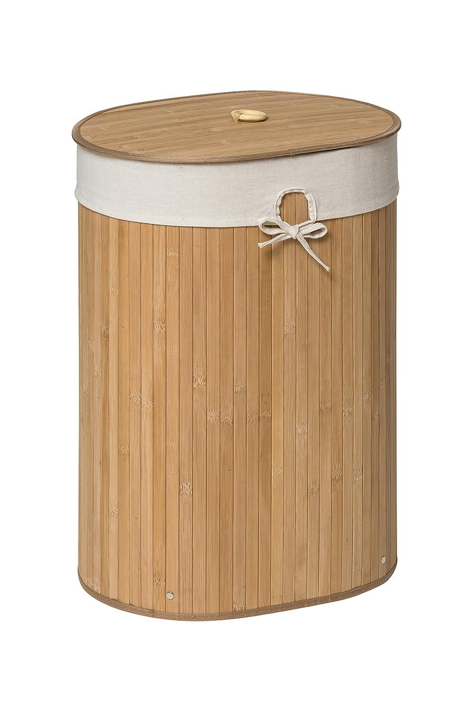 Premier Housewares Kankyo Bamboo Oval Laundry Hamper, Natural 1901479 1901479_Natural