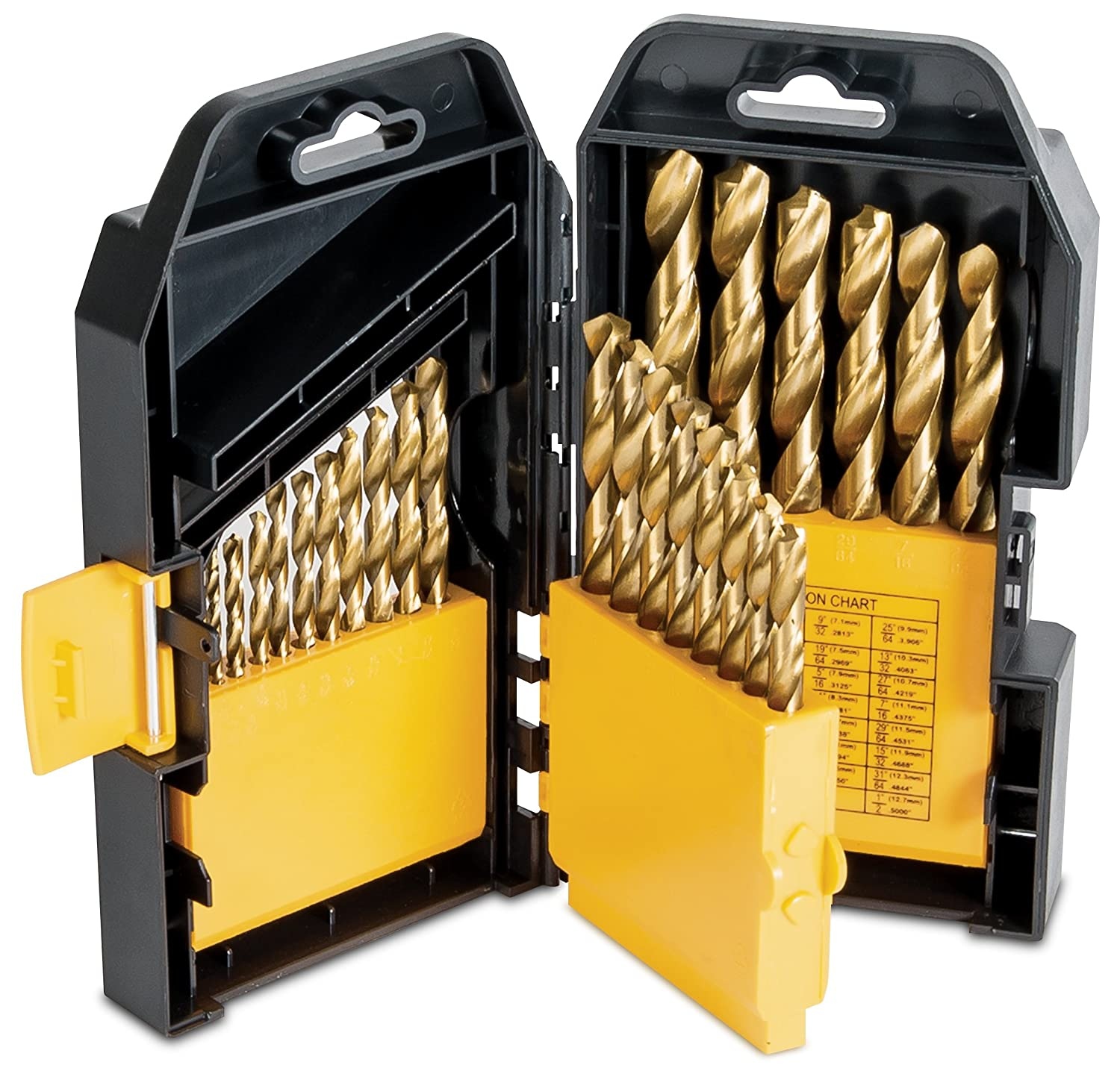 Titan Tools 16530 Titanium Coated Drill Bit Set (29 Piece)