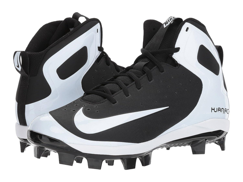 (ナイキ) NIKE メンズ野球ベースボールシューズ靴 Alpha Huarache Pro Mid MCS Black/White/White 12 (30cm) D Medium B078Q24HK9