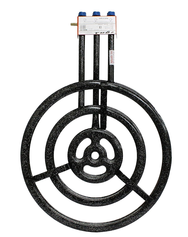 Garcima 76070 - Hornillo paellero Gas Plano l-70 3 Fuegos, 71 x 99 x 13, 6 cm, Color Negro: Amazon.es: Jardín