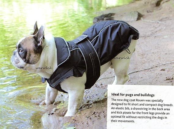 Resistente al agua negro diseñado para perros abrigo para perros (o francés Bulldogs (varios tamaños): Amazon.es: Productos para mascotas