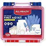 All Health First Aid Kit All Purpose, 100 Pieces + Traveling Case | On-The-Go Professional Kit Ideal For Travel, Work, School