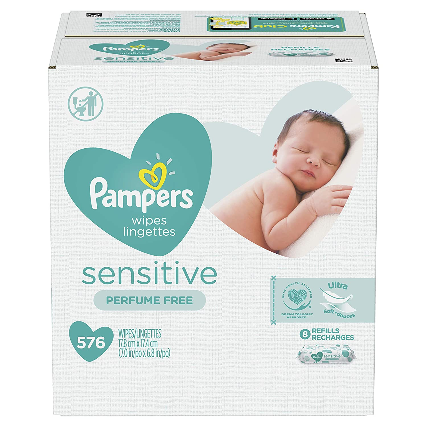 Pampers sensitive perfume free baby wipes