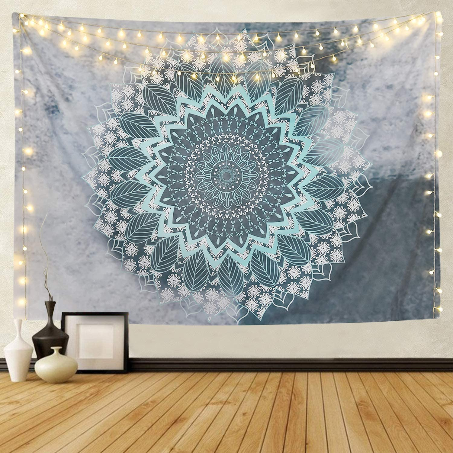 Sevenstars Mandala Tapestry Hippie Bohemian Tapestry Wall Hanging Flower Psychedelic Tapestry Indian Decor for Dorm Living Room Bedroom