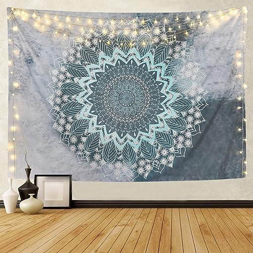 Sevenstars Mandala Tapestry Hippie Bohemian Tapestry Wall Hanging Flower Psychedelic Tapestry Indian Decor for Dorm Living Room Bedroom