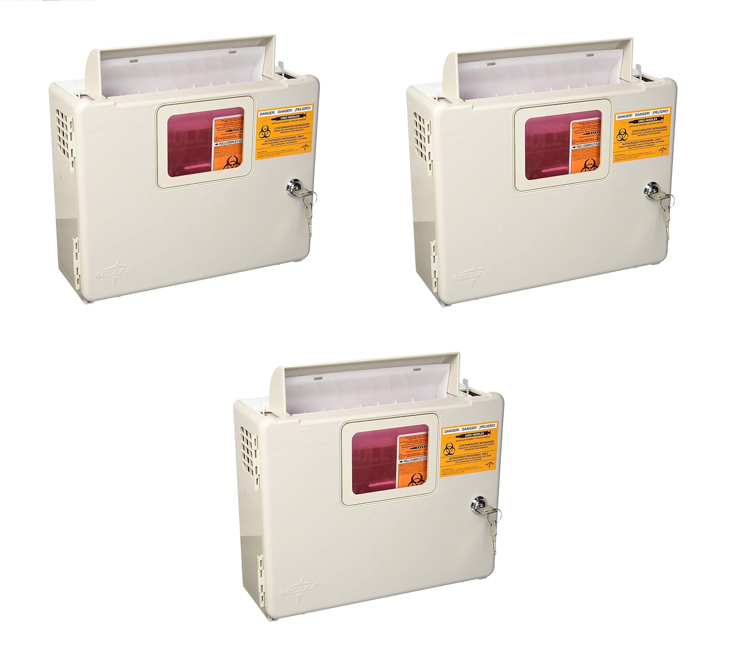 Kendall Wall Cabinet F/5Qt Sharps - Model 85161h (3 Pck)