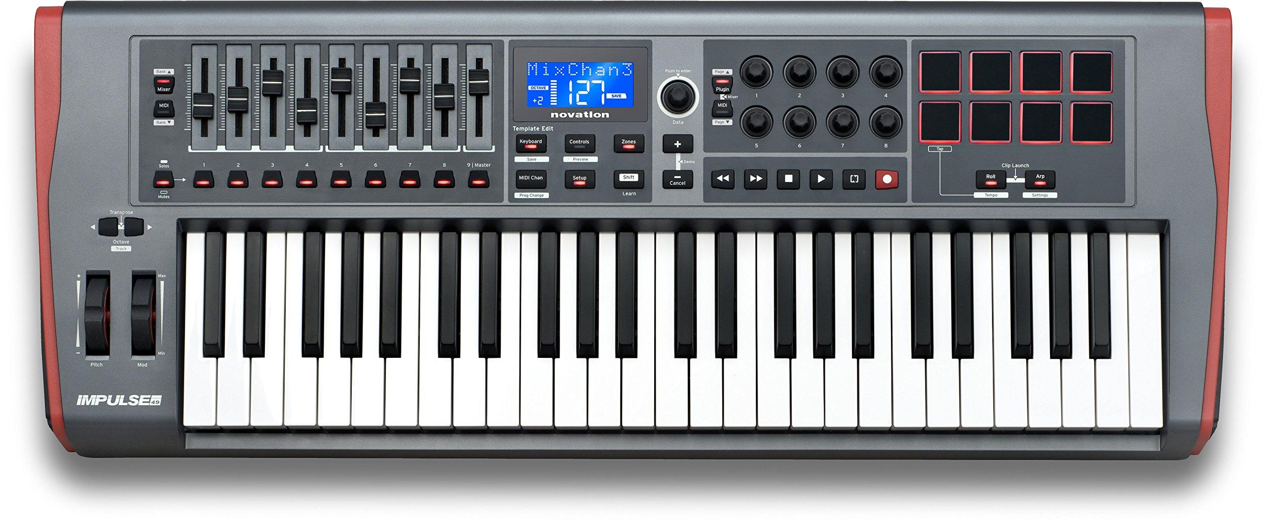 Novation Impulse 49 Keyboard Bundle with MIDI Cables and Austin Bazaar Polishing Cloth by Novation (Image #2)