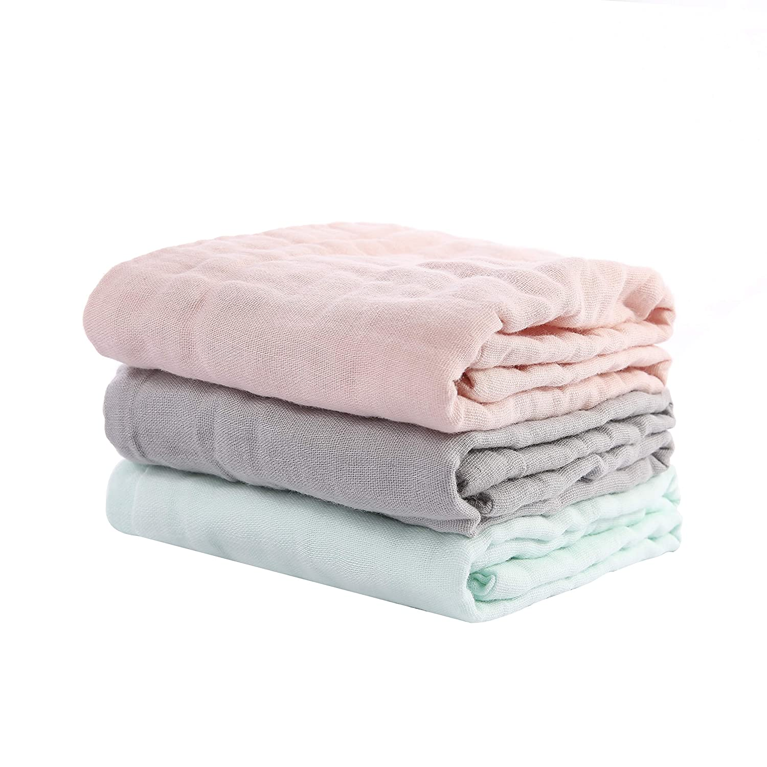 Multicolor-6pack DSDAI Baby Burp Cloths Cotton Washcloths 6 Layer Organic Muslin Burping Towel Absorbent Burp Rags Infant and Soft Towels for Unisex Baby,10x20 Inches
