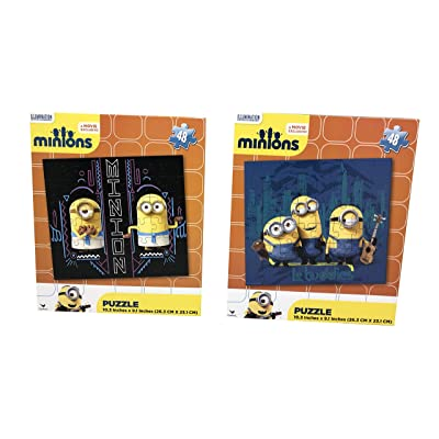 Set of 2 Minions 48 Pieces Puzzles: Toys & Games