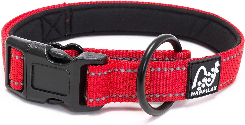Happilax Collar Perro pequeño y Cachorro, Acolchado con Neopreno, Ajustable y Reflectante