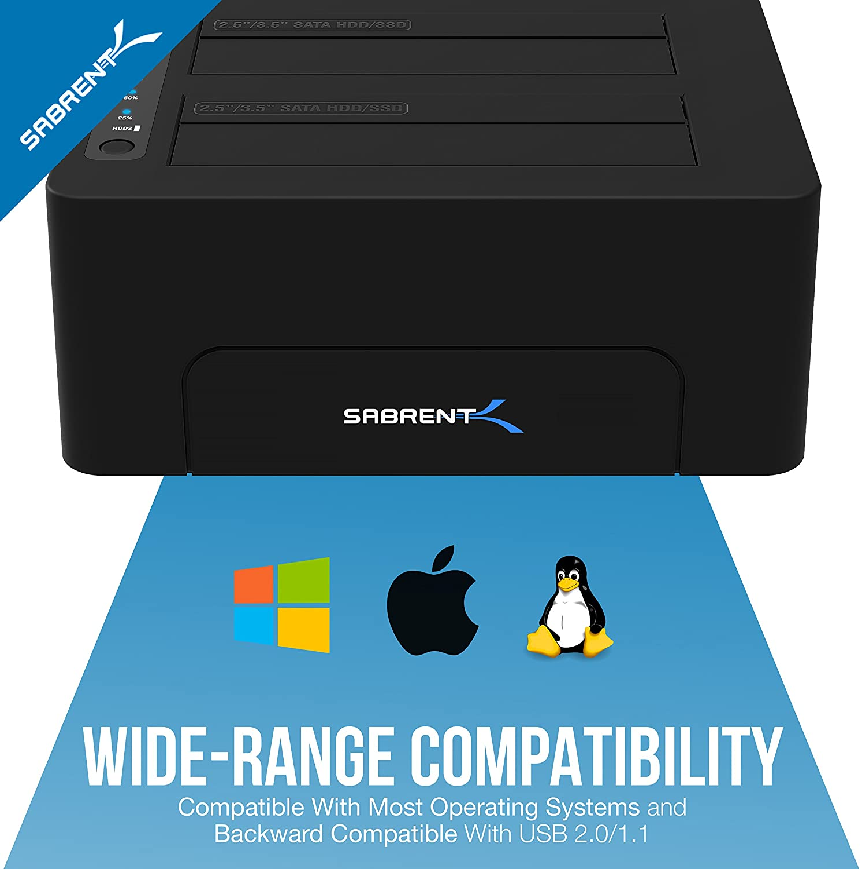 Sabrent Estación HDD/SSD -USB 3.0 a SATA 2.5