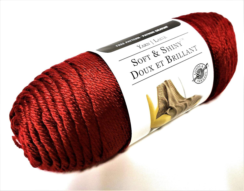 Soft & Shiny Yarn by Loops & Threads - 1 Ball – Poison Apple - 6 Ounces