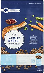 Farmers Market Dry Chicken and Beef Liver with Farm Vegetables Puppy Food 2.7 kg