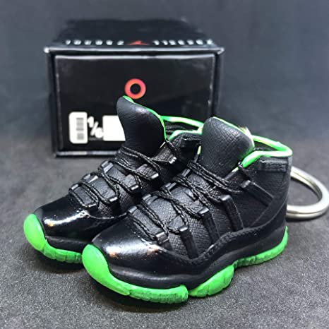 separation shoes 6caff 60e2c Amazon.com : Pair Air Jordan XI 11 Retro High Black Neon ...