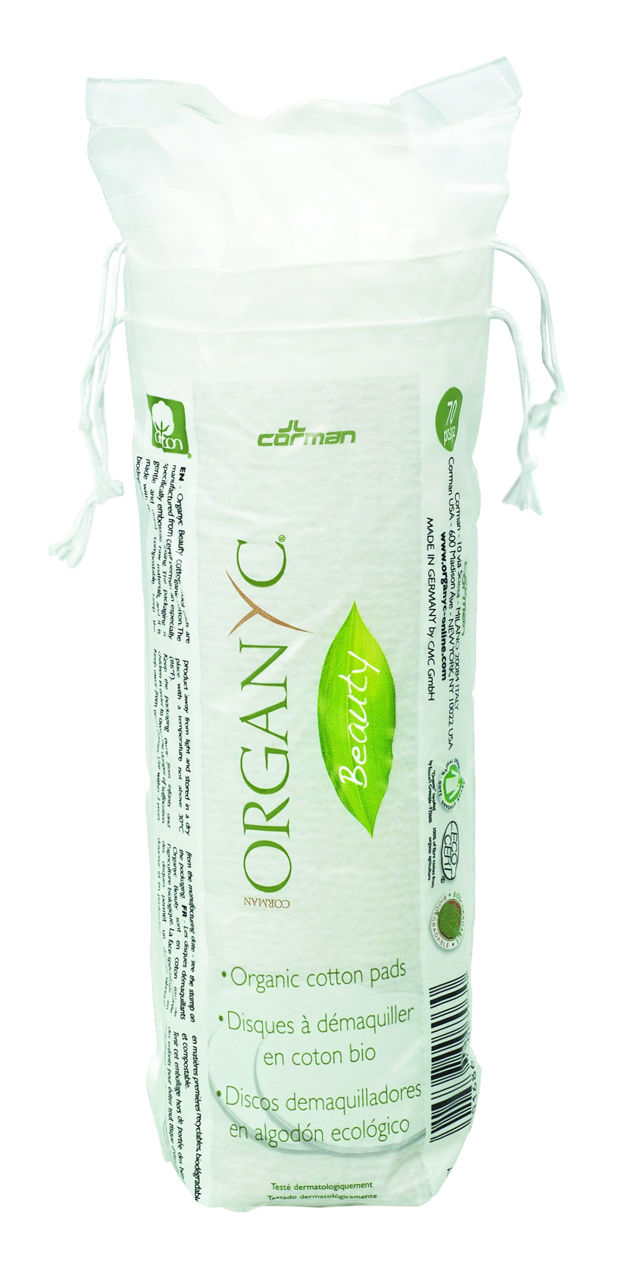 Organyc 100% Organic Cotton Rounds for Sensitive Skin, 70 count