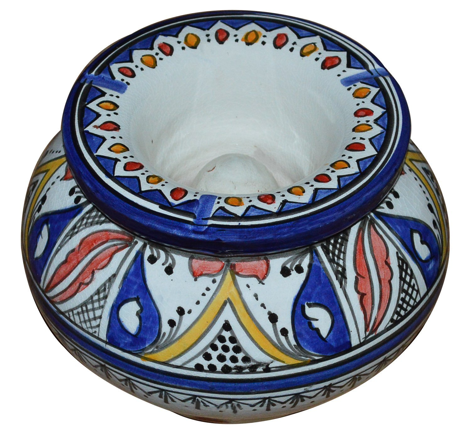 Ceramic Ashtrays Moroccan Handmade Smokeless Cigar Exquisite Design with Vivid Colors X-Large by Ceramic Ashtrays