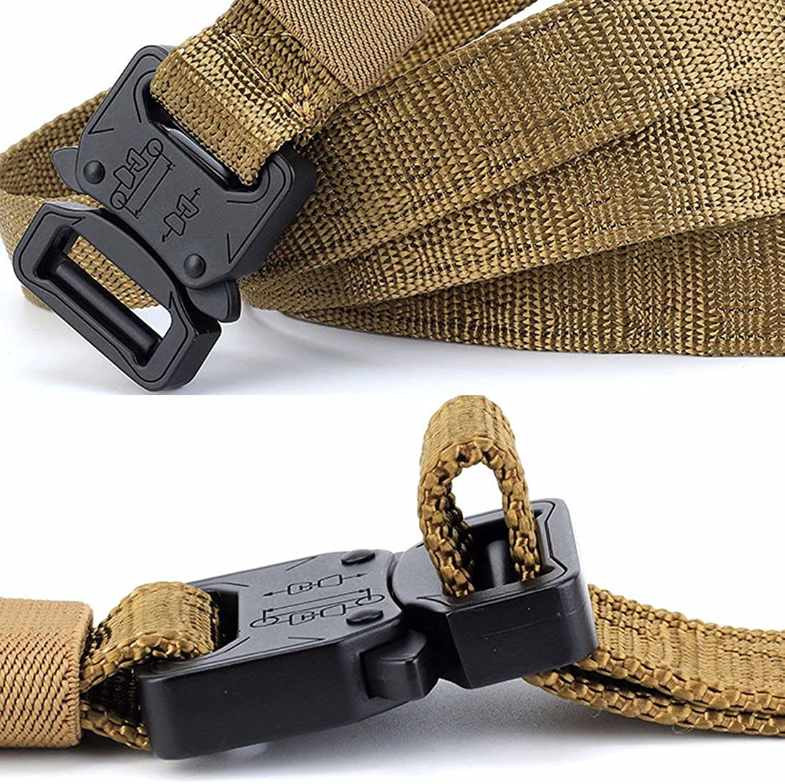 NiceShop16 1 Wide Tactical Nylon Belt Skinny Military Heavy Duty with Quick-Release Metal Buckle
