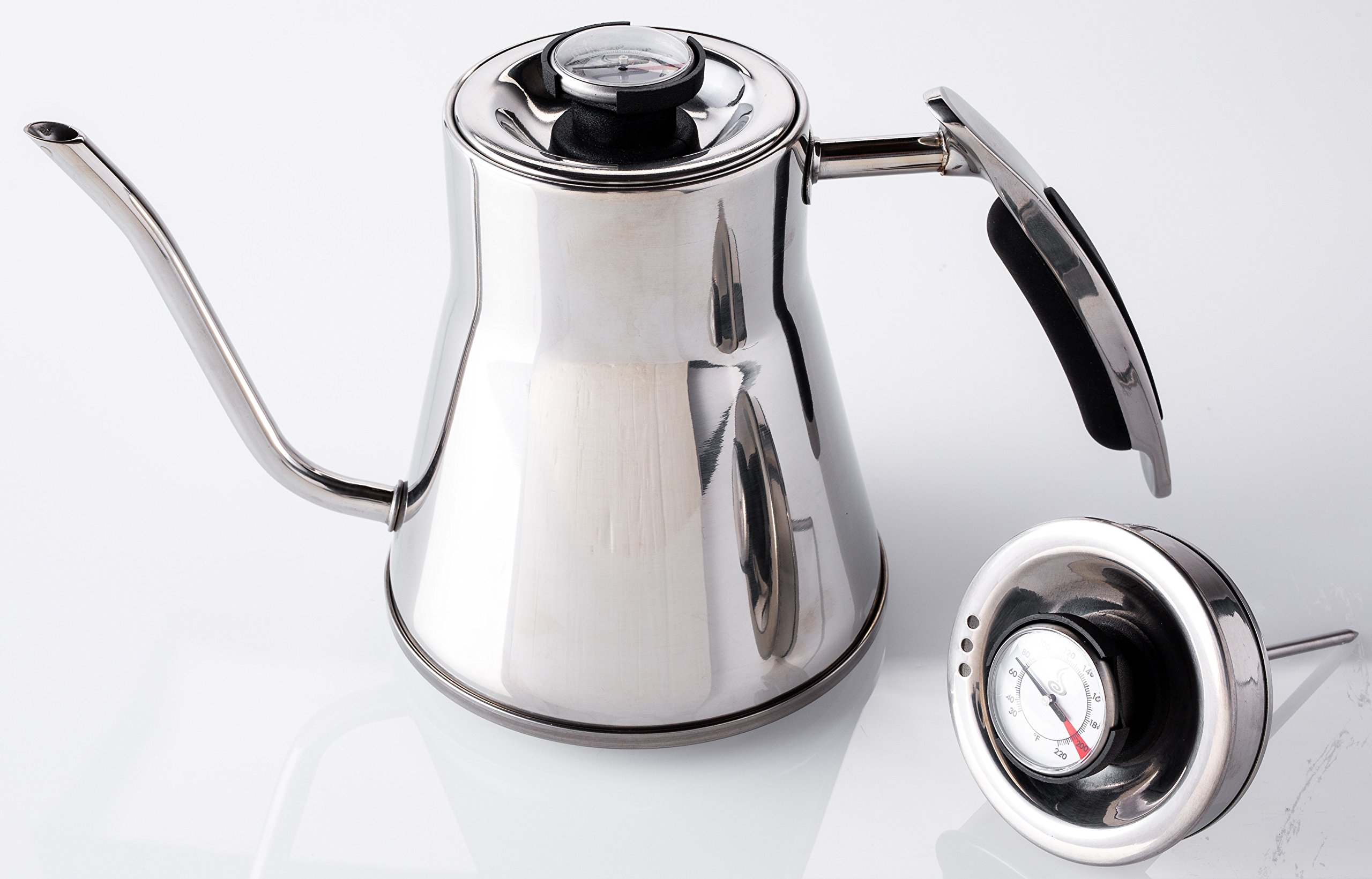 Java Concepts JC-17010 Pour Over Kettle, Stainless Steel  Pour Over Kettle, Stainless Steel, by Java Concepts (Image #1)