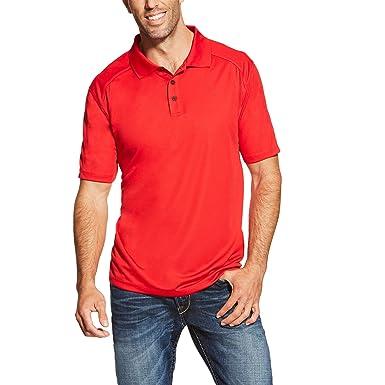 Ariat Hombres Manga Corta Camisa Polo - Rojo -: Amazon.es: Ropa y ...