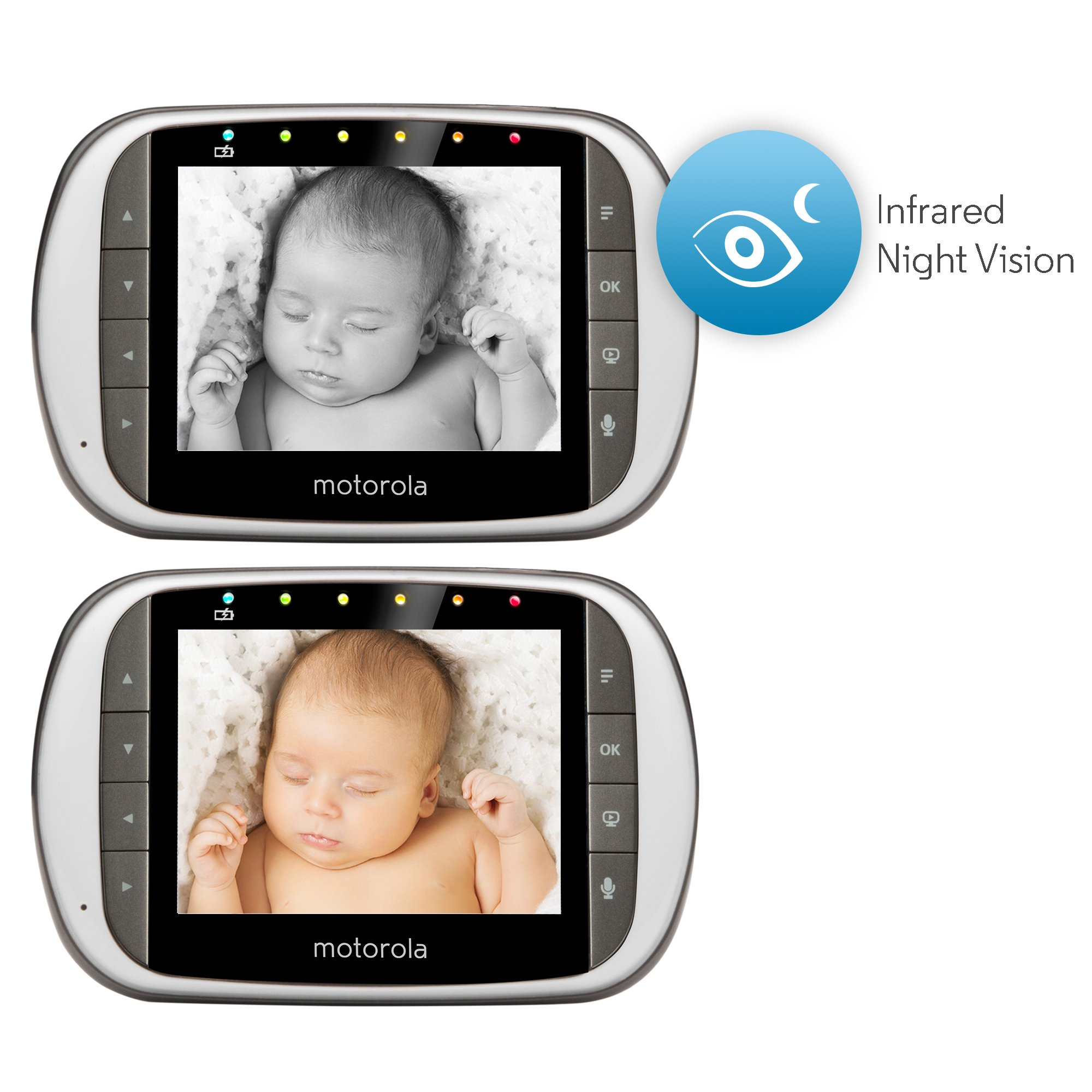 Motorola MBP853CONNECT-2 Dual Mode Baby Monitor with 2 Cameras and 3.5-Inch LCD Parent Monitor and Wi-Fi Internet Viewing by Motorola Baby (Image #6)