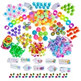 494-Piece Assortment of Small Toys and Goodies for Easter Egg Stuffers, Egg Fillers, Kids Easter Egg Hunt Basket Supplies and Carnival Prizes - Surprise Kids with Bulk Mini Toys to Fill Plastic Eggs