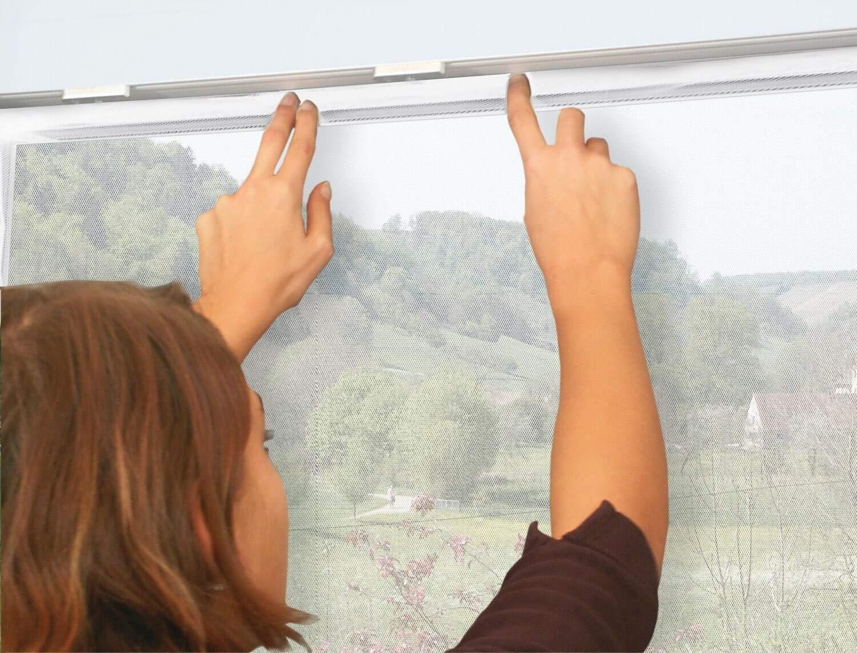 Polyester Moustiquaire fen/être Auto-Agrippante Scratch Blanc 130 x 150 cm Inclus bande adh/ésive et Toile anti insect mouches Auto-Adh/ésif Rideaux Anti Moustique