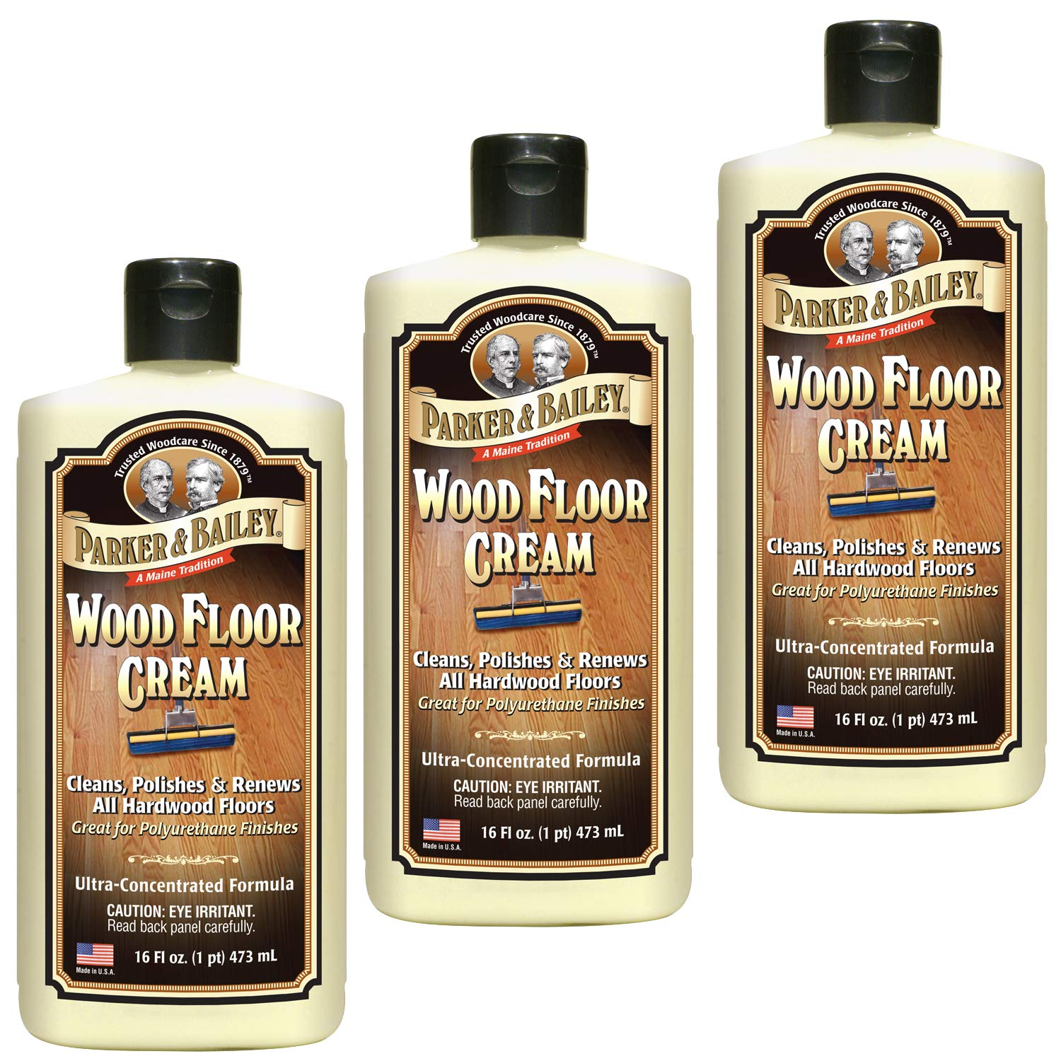 Parker & Bailey Wood Floor Cream Pack of Three (Forty-Eight Ounces) by Parker & Bailey